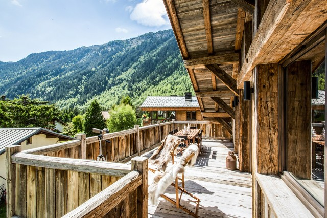 High Standing Chalet - Chamonix - Balcony with mountain views