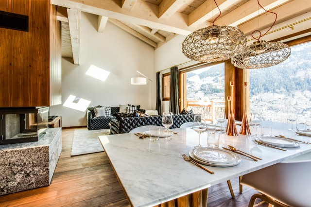Luxury SPA Chalet - Dinner room
