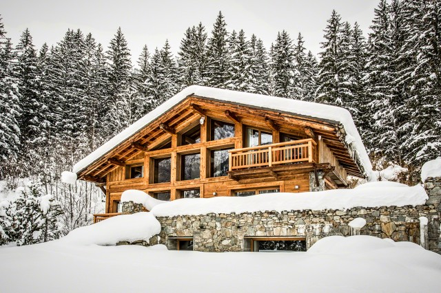 Traditional chalet - Chamonix - Exterior in winter