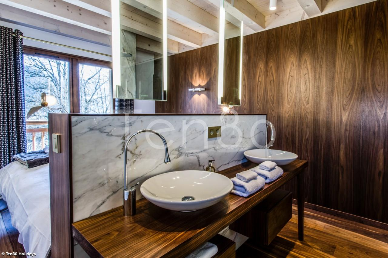 Ensuite Bathroom Hire white diamond | stunning 5 bedroom spa chalet | luxury ski chalets