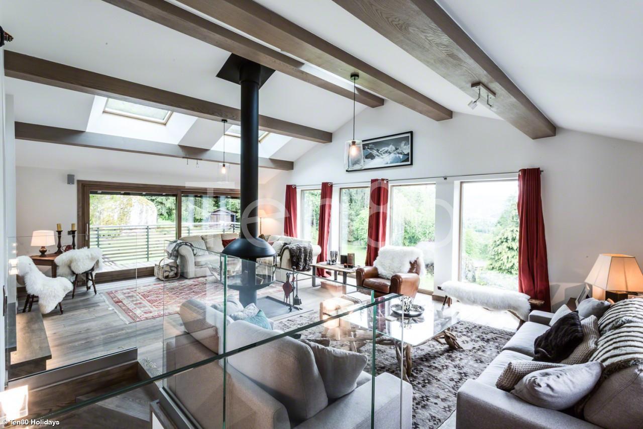 chalet de luxe a louer chamonix chalet aubepines ten80 collection. Black Bedroom Furniture Sets. Home Design Ideas
